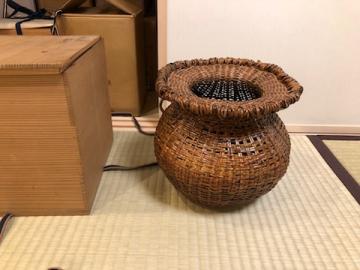 池田瓢阿作 竹籠花入の買取 - 竹工芸