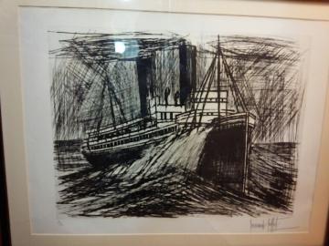 ベルナール・ビュッフェ「フランドルの船」- 版画の買取